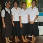 Postulants with Sister Elma