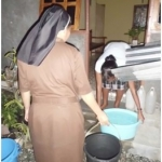 Sisters in Timor-Leste saving rainwater.