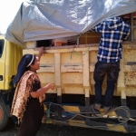 Bringing supplies to the new convent