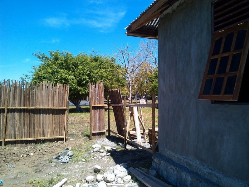 A fence is constructed at the new convent in Timor-Leste