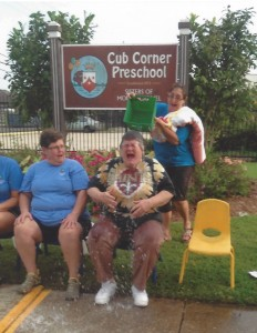 "Sister Gwen Grillot, O. Carm. getting ""iced"" for ALS!"