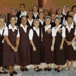 Sr. Lawrence with the newly professed sisters