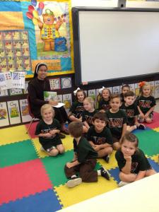 Sr. Cristilyn Rubio with students
